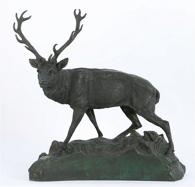 Large Bronze Sculpture - Rous František (1872 - 1936)