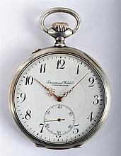 International Watch Co. Schaffhausen silver pocket watch