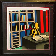 In Search of Useless Knowledge by Kostabi Serigraph