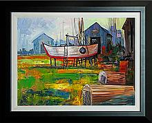 Michael Schofield Original Oil On The Farm