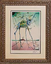 Salvador Dali-Celestial Elephant Limited Lithograph