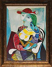 Pablo Picasso-Lithograph Portrait of Marie Therese