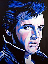 Elvis Prestley Original Oil by Hector Monroy
