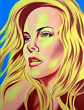Charlize Theron Original Oil by Hector Monroy