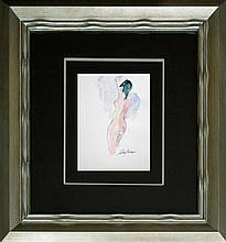 Original Illustration Hand Signed LeRoy Neiman