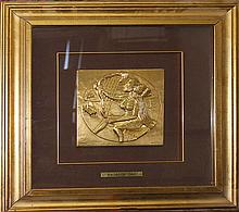 Salvador Dali-Gold Relief Hand signed and numbered