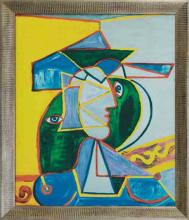 Pablo Picasso-Limited Ed -Man with Yellow and Blue Hat