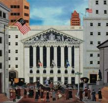 Limited Edition Jane Wooster Scott  The Stock Exchange