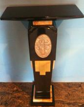 Black and Gold  Sculpture Pedestal