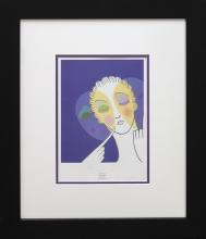 Erte Trois Visages Three Faces Lithograph