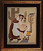Elke Sommers Limited Ed Serigraph Happy Working