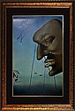 Salvador Dali Hand Signed Lithograph Looking In