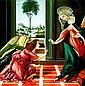 Hector Monroy Original Oil Annunciation of Angel Gabriel to Virgin Mary