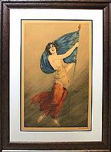 Louis Icart La Liberte Limited Edition lithograph