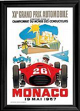 Car Racing Reprint of 1957 poster