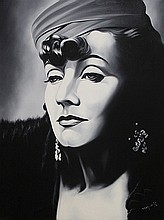 Monroy Original Oil Greta Garbo