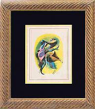 Hirschfeld-Original Stone Lithograph, Lindy Hop