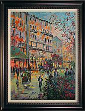 Michael Schofield Mixed Media Original Winter Parisian Street