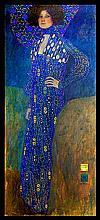 Gustav Klimt Emily Mixed Media Hand Embellished Giclee