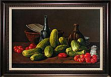 Luis Melendez-Stillife with Cucumber and Tomatoes