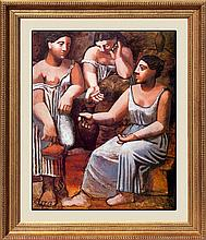 Pablo Picasso-Three Women and the Spring