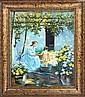 Cellini-Original Oil Painting Hand Signed-Bathtime