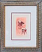 Louis Icart-Original Etching Hand Colored, Hand Signed