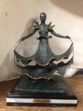 Salvador Dali Dalinian Dancer Bronze Sculpture