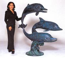 Bronze Sculpture-Monumental Fountain -Three Dolphins