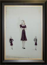 Original Fashion Illustration done in 1940s