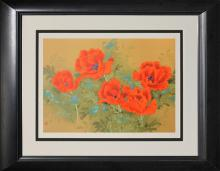 Vibrant Poppies- David Lee- Limited Edition Serigraph