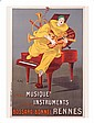 Vintage French Poster Giclee Musique Instruments