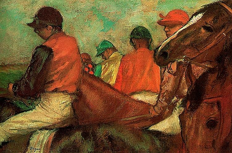 Edgar Degas-Limited Edition Giclee-Horses and Jockeys