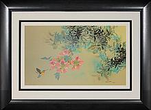Pink Blossoms by David Lee - Serigraph