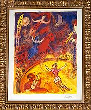 Marc Chagall Limited Edition Lithograph Circus