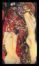 Gustav Klimt Limited Edition Giclee Water Serpents II