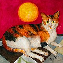 Alice Asmar- Limited Edition Giclee-Calico Cat