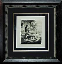 Rembrandt Durand Etching