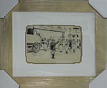 Ludovic Rodo Pissaro Original Illustration done in 1930. Original pen and ink