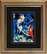 Mark Chagall Original Lithograph Hand signed by the artist