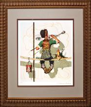 Norman Rockwell Original Lithograph Gold Limited Edition