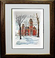 Paul N. Norton Lithograph of Governors Mansion Terrace