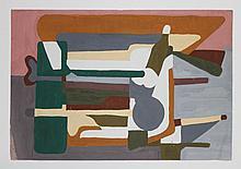 D. Weilacher Original Woodblock  1950