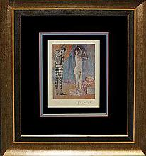 Pablo Picasso Lithograph Hand Signed Twosome
