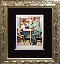 Rockwell-Limited Hand Signed Lithograph Eye Doctor