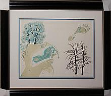 Salvador Dali Winter Original Lithograph Hand Signed
