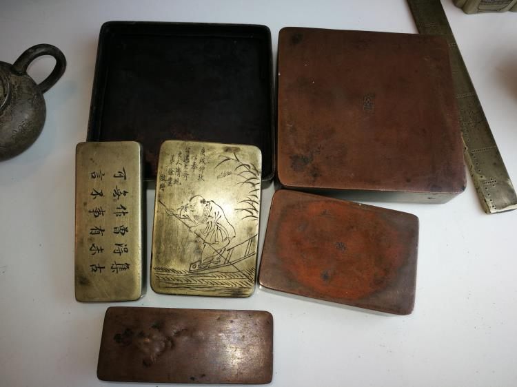 10 Old Chinese Copper Scholar s Pieces Republic China