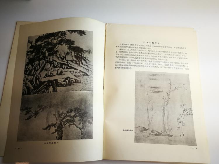 1955 Paintings Book by Famous Artist Fu Bao Shi