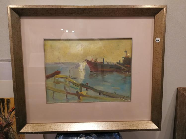 Old Chinese Oil Painting Artist Signed
