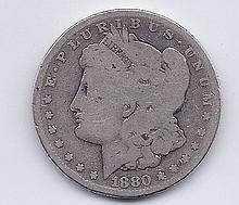 1880 $1 Morgan Silver Dollar